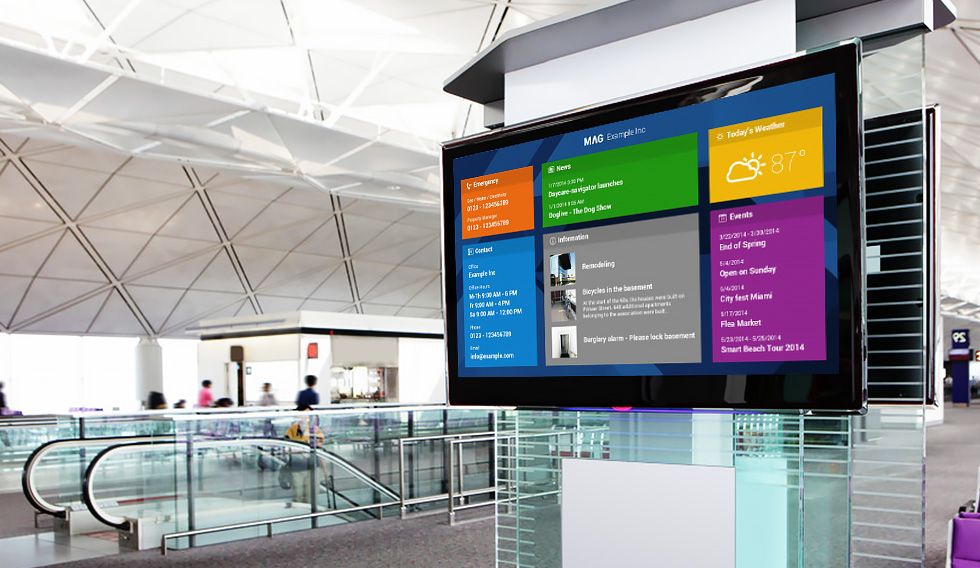 University Digital Signage dynasign